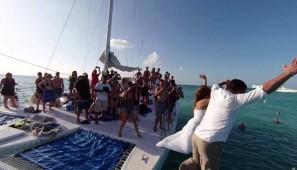 boda en catamaran